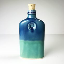 Ohio is Home Flask Blue and Teal - Back