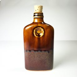 Ohio is Home Flask Brown- Back
