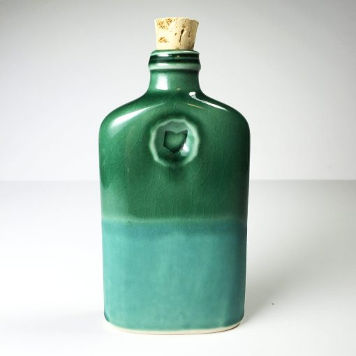Ohio is Home Flask Green and Teal- Back