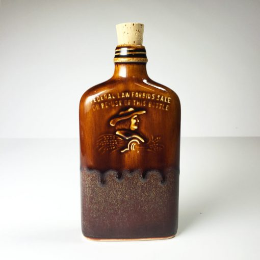 Ohio is Home Flask Brown- Front