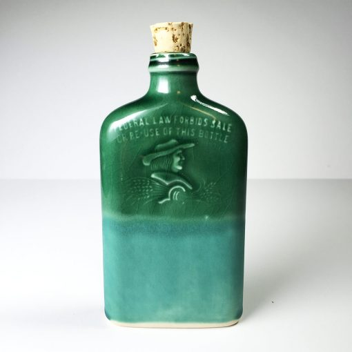 Ohio is Home Flask Green and Teal- Front