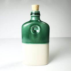 Ohio is Home Flask Green and White - Back