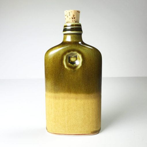 Ohio is Home Flask Olive Green and Tan - Back