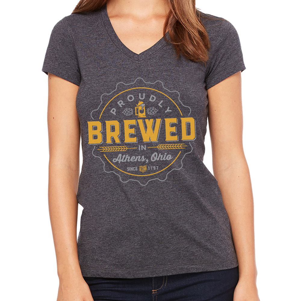 Proudly brewed in athens ohio show your athens brewed pride for Columbus ohio t shirt printing