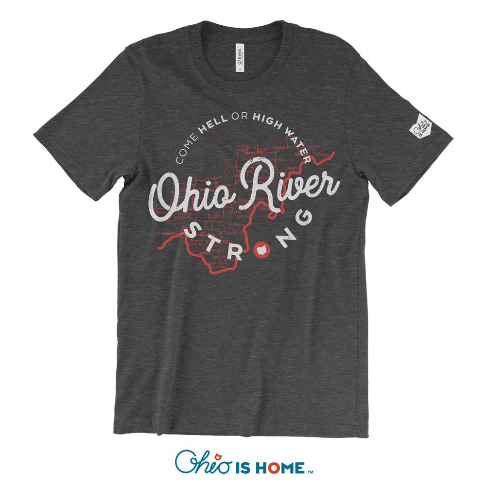 428079889 Ohio River Strong T-Shirt - Charcoal Black - Ohio Is Home