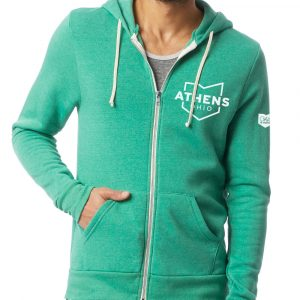 Athens Ohio Map Hoodie Front