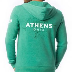 Athens Ohio Map Hoodie Back