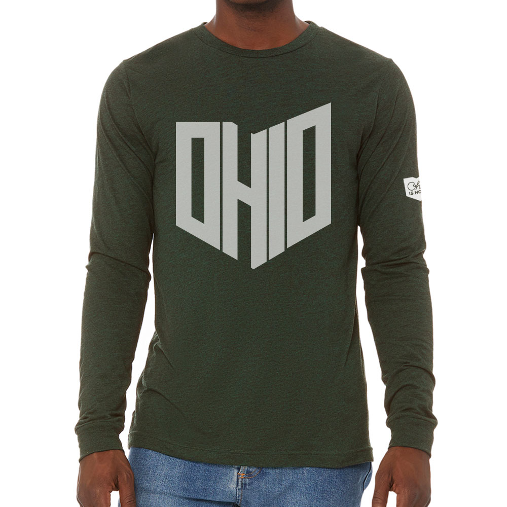 779c38f2a Ohio State Shape Long Sleeve T-shirt - Dark Green - Ohio Is Home
