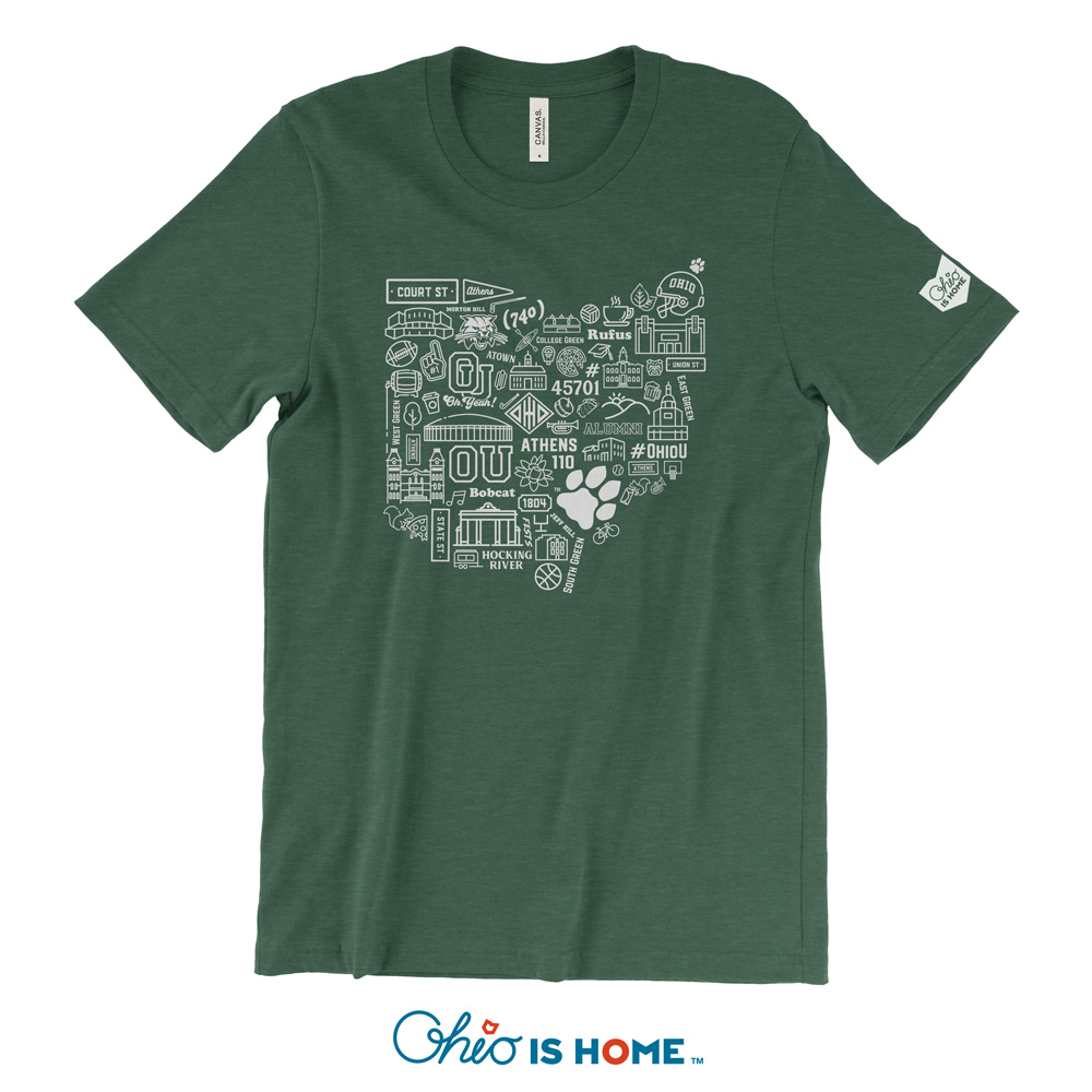Ohio U OHIO Icons T-shirt - Green