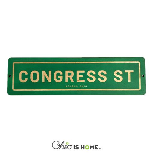 Congress Street Athens Ohio Sign